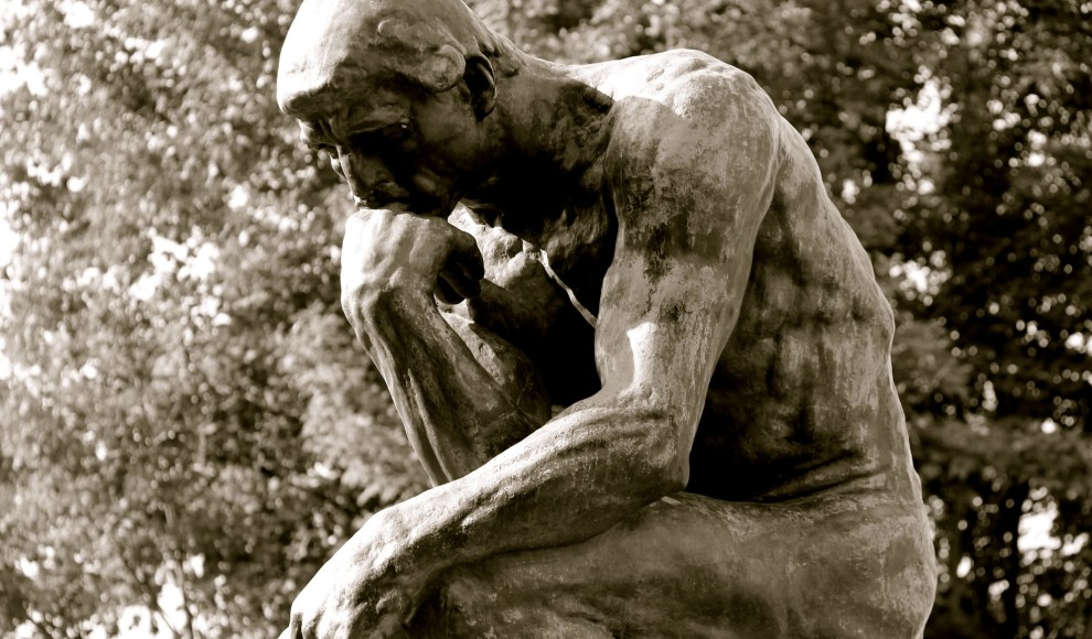 the thinker b&w