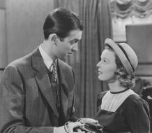 Jimmy Stewart and Margaret Sullavan in The Shop Around the Corner (1940).