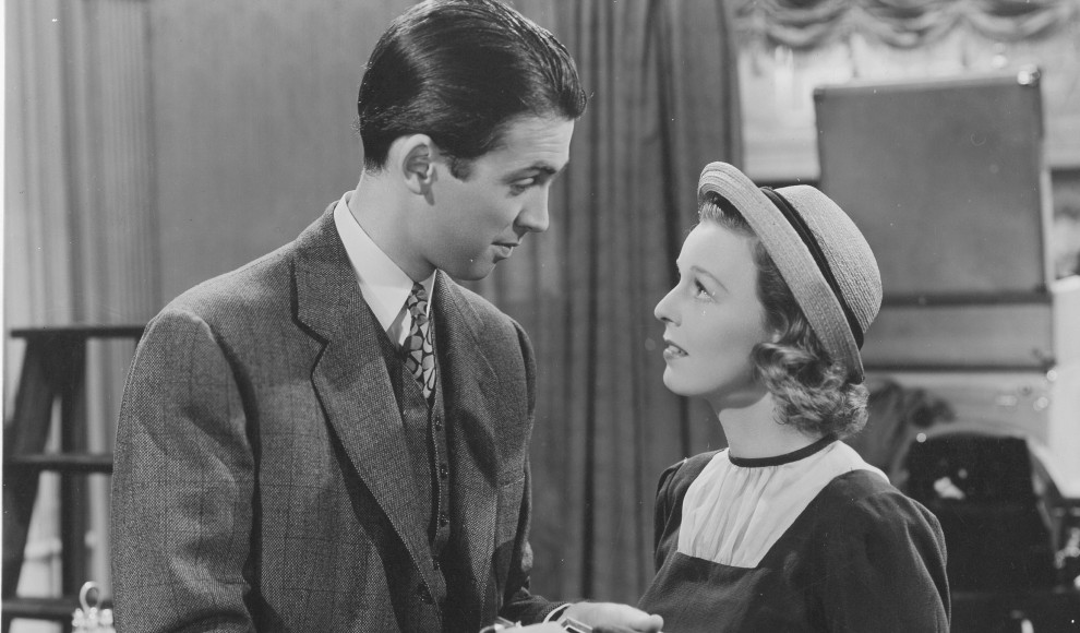 Jimmy Stewart and Margaret Sullavan in The Shop Around the Corner (1940).