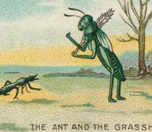 Detail from an illustration of the famous Aesop fable, used on a package of Gallaher's cigarettes.