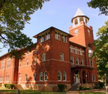The Rhea County Courthouse in Dayton, Tennessee, was the venue for the 1925 Scopes Trial in which John Scopes, a substitute high school teacher, was accused of violating a state law forbidding public schools from teaching human evolution.