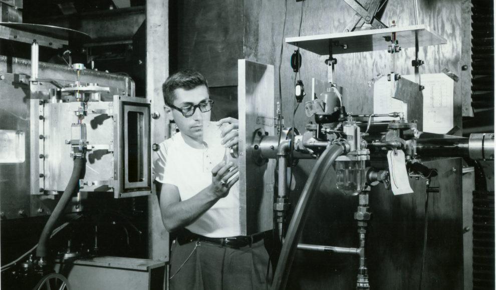 1954 photo of Cosmotron at Brookhaven National Laboratory, Upton