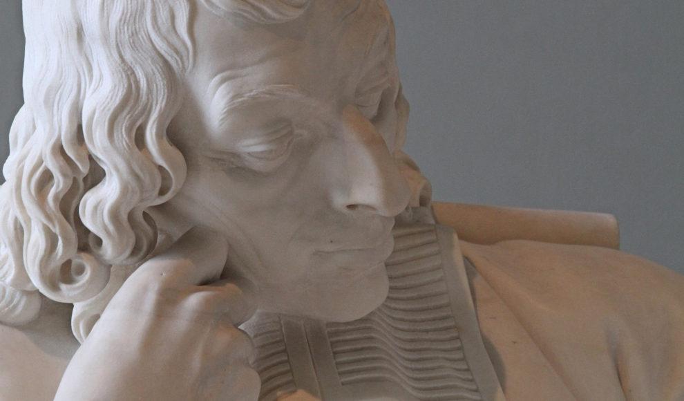 A sculpture of Blaise Pascal from the Musée du Louvre, Paris.