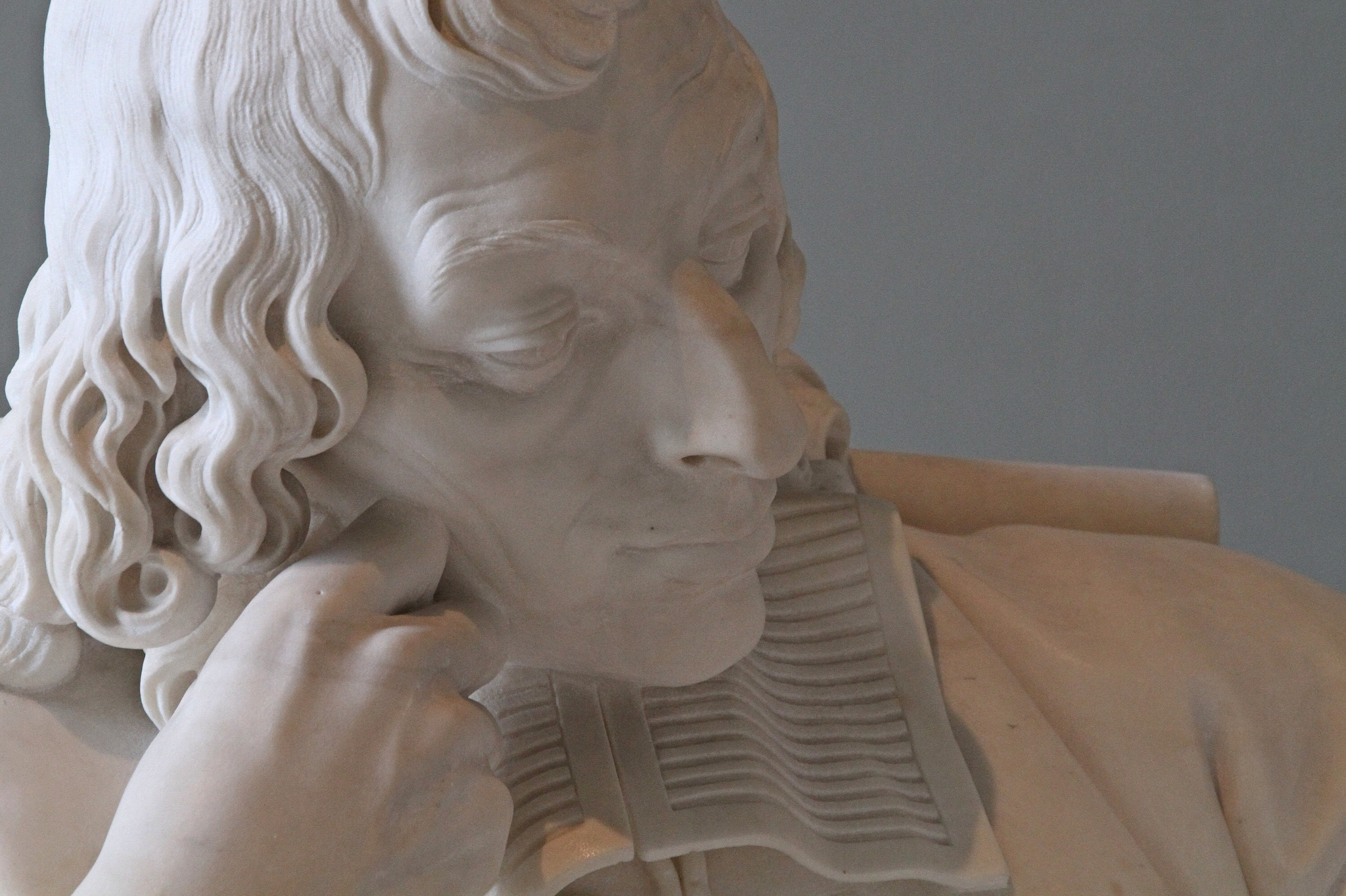 A sculpture of Blaise Pascal from the Musée du Louvre, Paris.