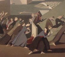 Detail of The Deluge by British painter Winifred Margaret Knights (1899–1947)