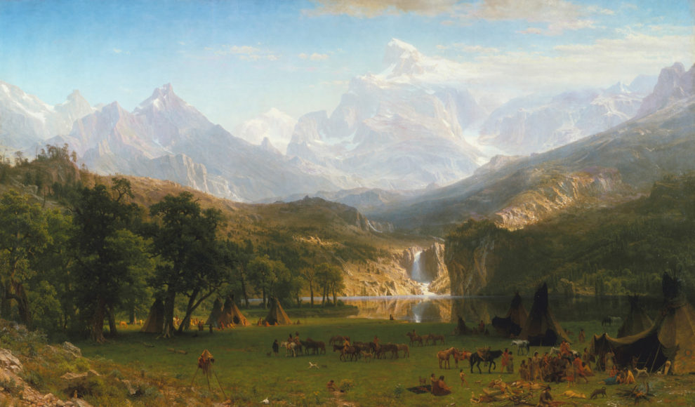 American painter Albert Bierstadt's 1863 The Rocky Mountains, Lander's Peak. American historian Frederick Jackson Turner articulated what came to be known as the Frontier Thesis (discussed below), the idea that westward expansion shaped the character of American democracy.