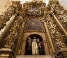 An altar dedicated to St. Thomas Aquinas in the Convento de San Esteban, a Dominican monastery in Salamanca, Spain.